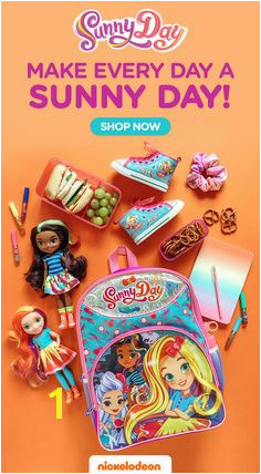 Sunny Day on Nick Jr Getting ready for back to school Sunny Day school supplies and more are now available