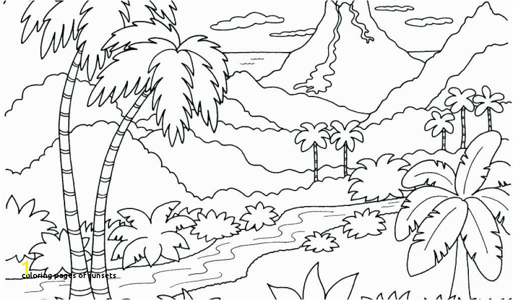 Coloring Pages Sunsets island Coloring Page Sunset Coloring Pages Picture island Coloring