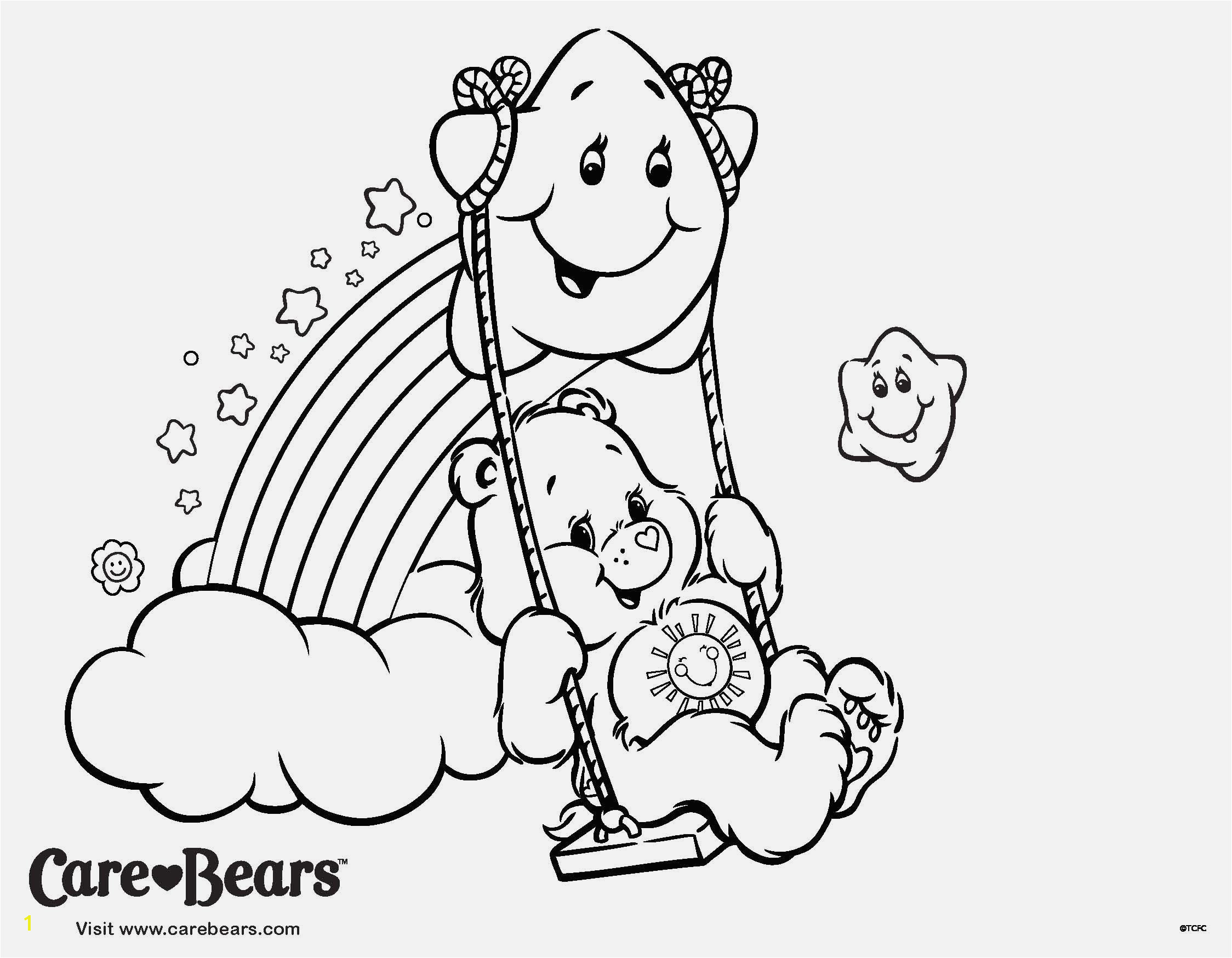 Sunshine Care Bear Coloring Pages Printable Care Bear Coloring Pages