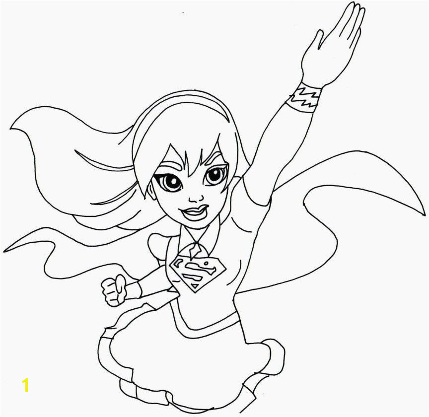 Girl Superhero Coloring Pages Beautiful Simple Girl Superhero Coloring Pages for Kids for Adults In