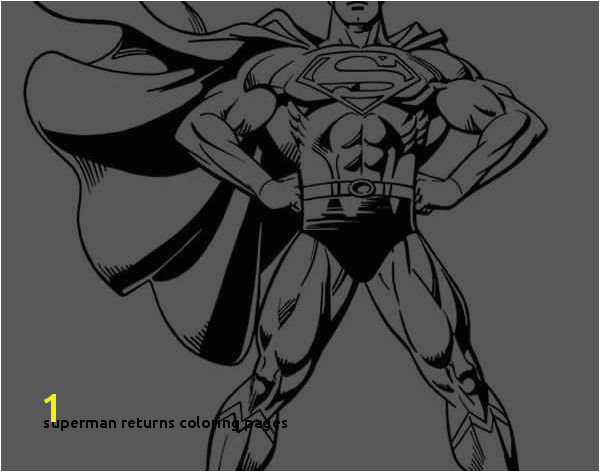 Superman Returns Coloring Pages Lustermahtab