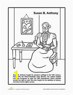 Susan B Anthony Coloring Page