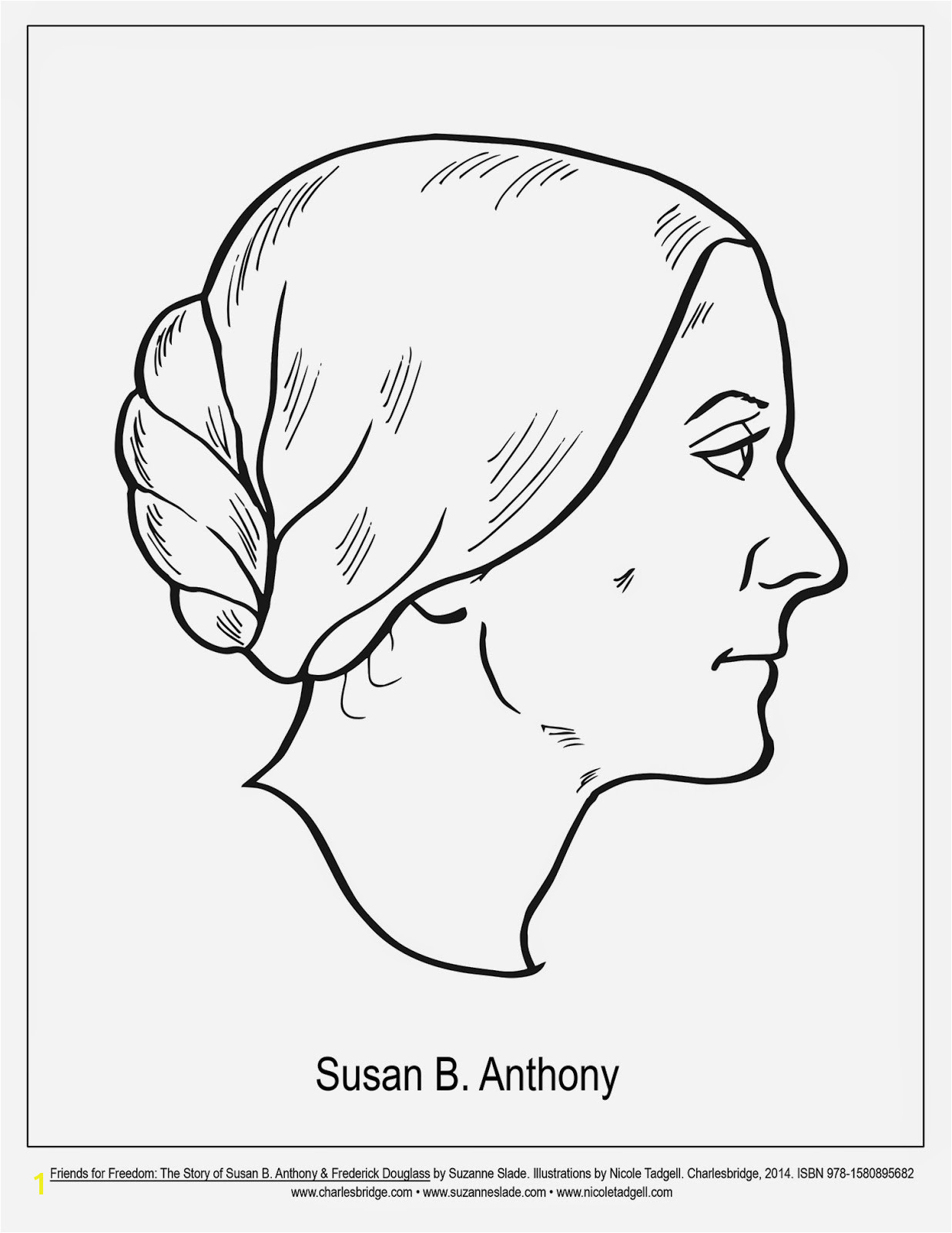 Nicole Tadgell Ilration Coloring Pages For Friends Freedom Susan B Anthony Coloring Page