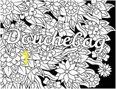 Douchebag Swear Word Coloring Page Adult Coloring Page Swearstressaway es