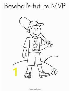 Baseball s future MVP Coloring Page
