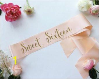 Sweet 16 Sash 16th Birthday Sash Custom Birthday Sash Sweet Sixteen Sash 16 Birthday Sash Sweet 16 Sweet Sixteen