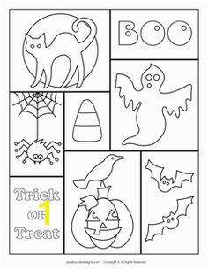 Free Halloween coloring pages Halloween coloring sheets Patterns could be used for scrapbook page Halloween
