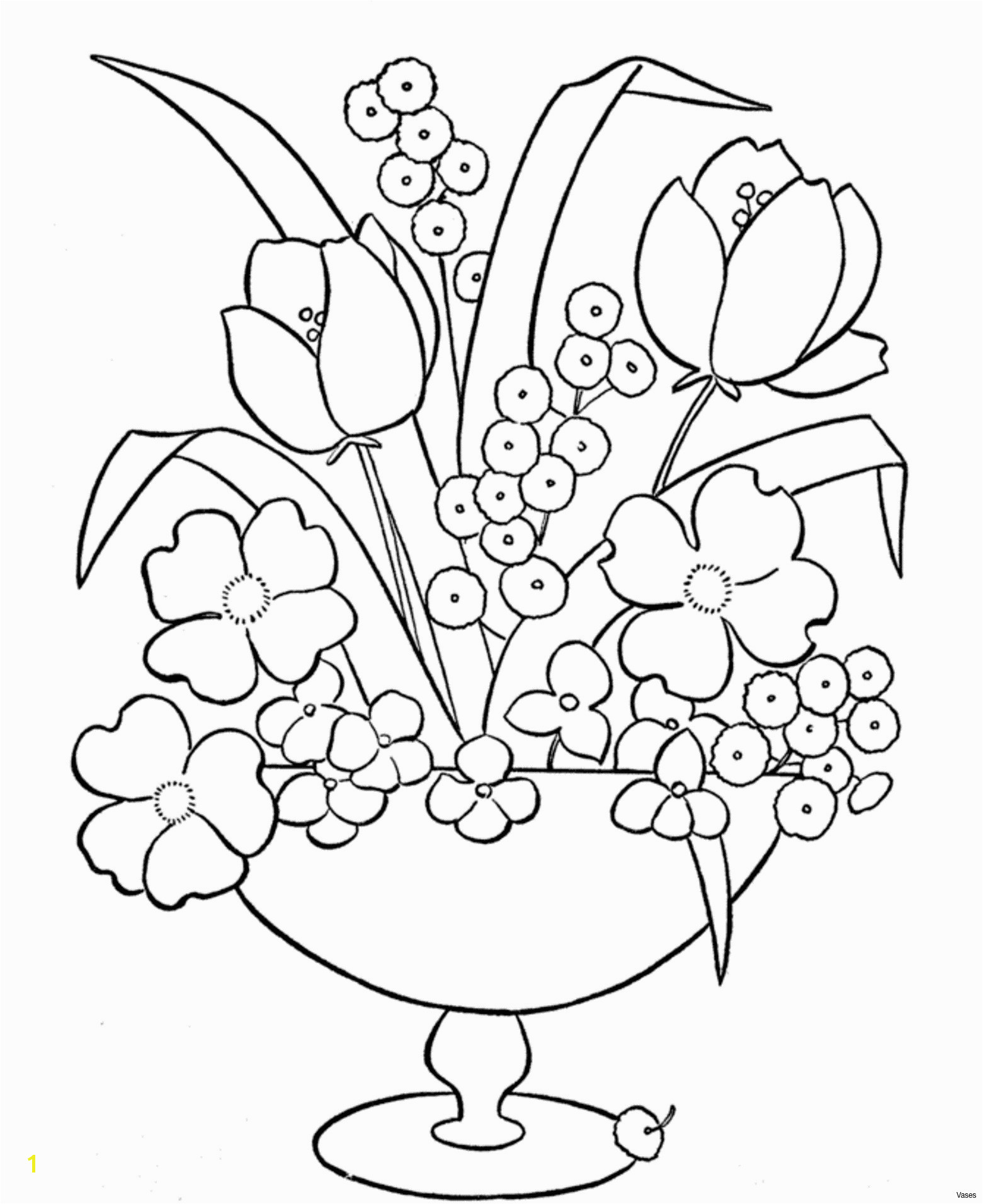 Swimming Coloring Pages New Cool Vases Flower Vase Coloring Page Pages Flowers In A top I