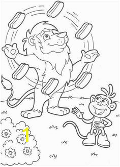 Juggler coloring page from Dora the Explorer coloring sheet More Dora the Explorer coloring sheets