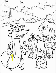 Say Hello To Swiper Dora And Boots Coloring Pages Dora the Explorer cartoon coloring pages