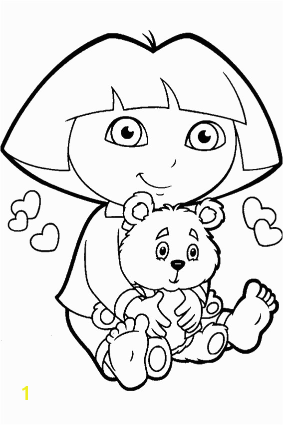 Cute Dora Coloring Pages