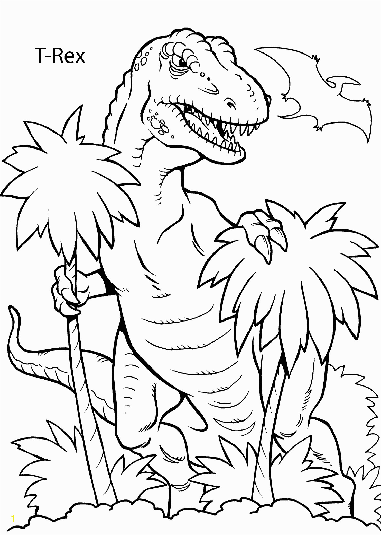 T Rex Coloring Pages Free Color Pages Free