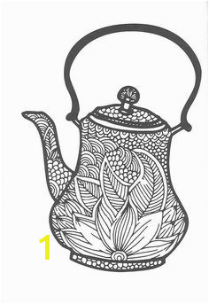 Coffee pot zendoodle Coloring Pages for Adults