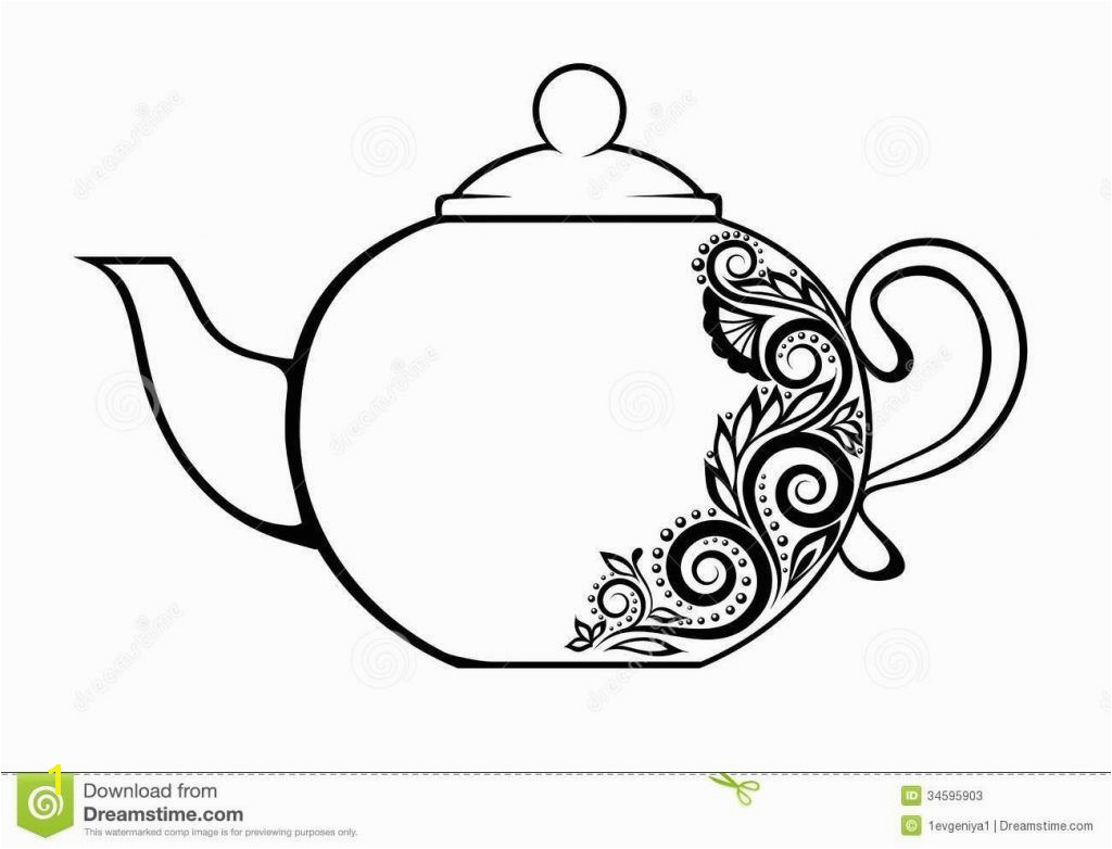 Teapot Coloring Page 3 And