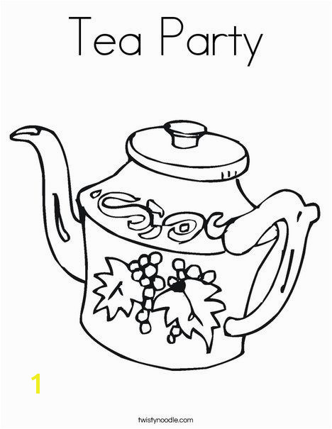 Tea Party Coloring Page Twisty Noodle