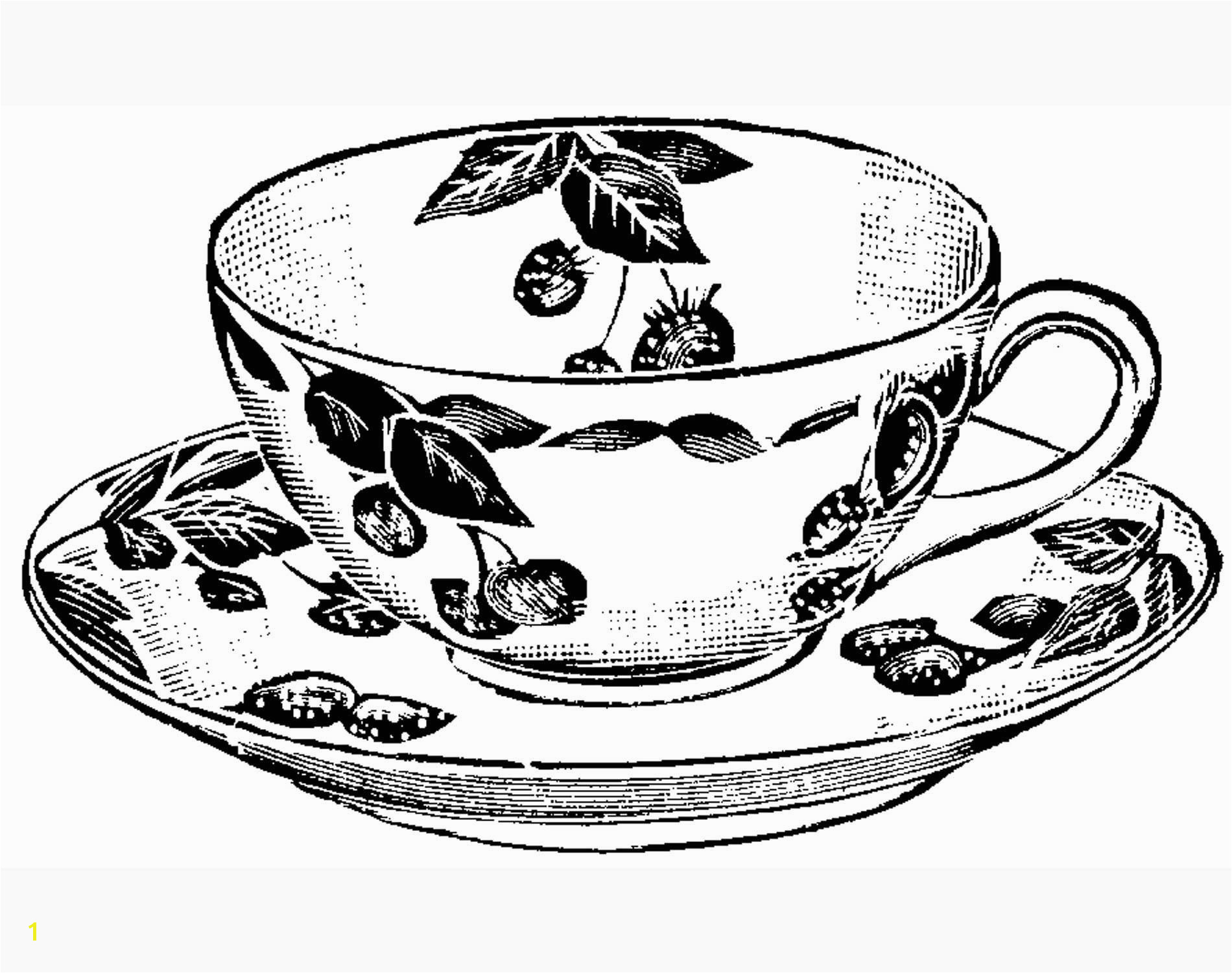 Teacup Print Craft Create Pinterest Tea Cup Teas And Embroidery Lovely Teapot Coloring Page