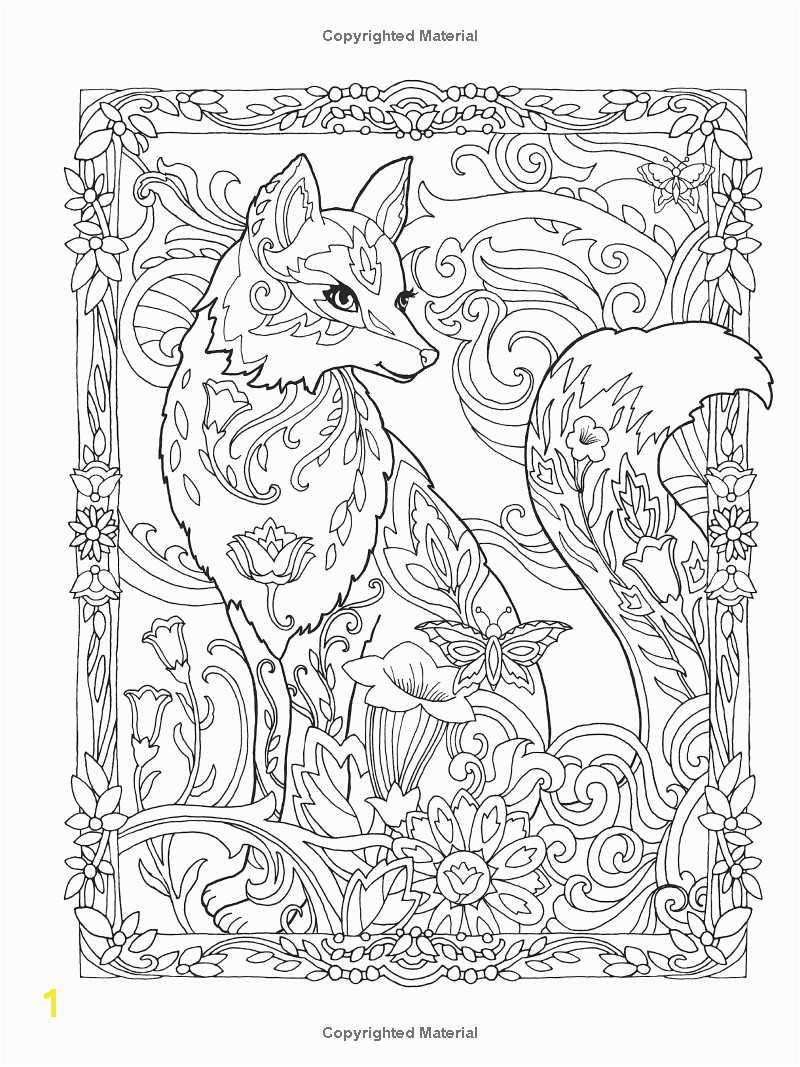 Creative Haven Fanciful Foxes Coloring Book Adult Coloring Marjorie Sarnat