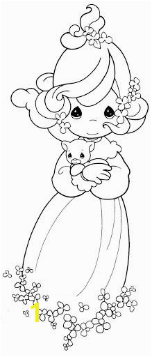 Girl with a kitten coloring pages precious moments Precious Moments Coloring Pages Coloring Book Pages