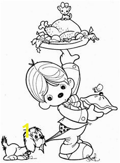 Clown waiter precious moments coloring pages