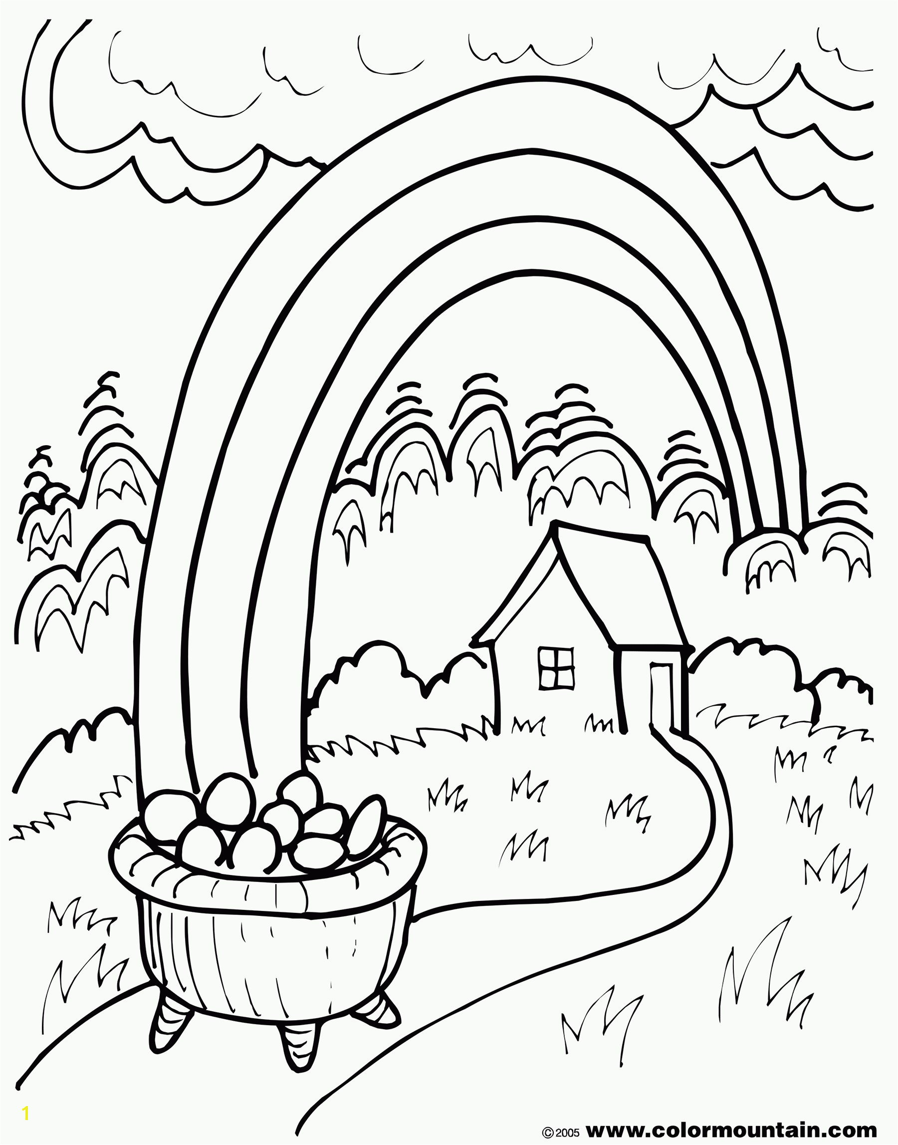 Skill The Empty Pot Coloring Pages Download Gold Page Free Draw To