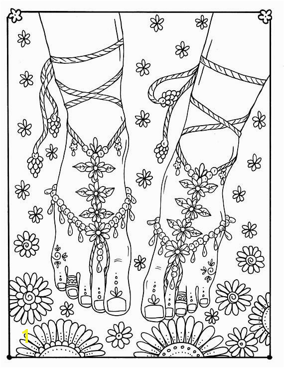 Fairy Feet from the book Fairy Hair Coloring Book Art made for you to have some fun coloring Fairy feet are magical ChubbyMermaid