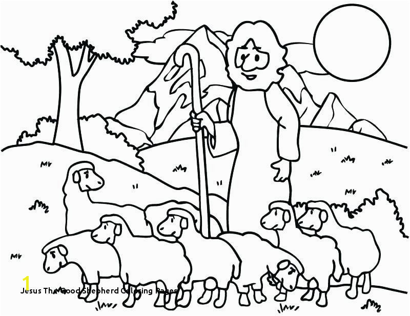 The Good Shepherd Coloring Page 17 Beautiful Jesus the Good Shepherd Coloring Pages