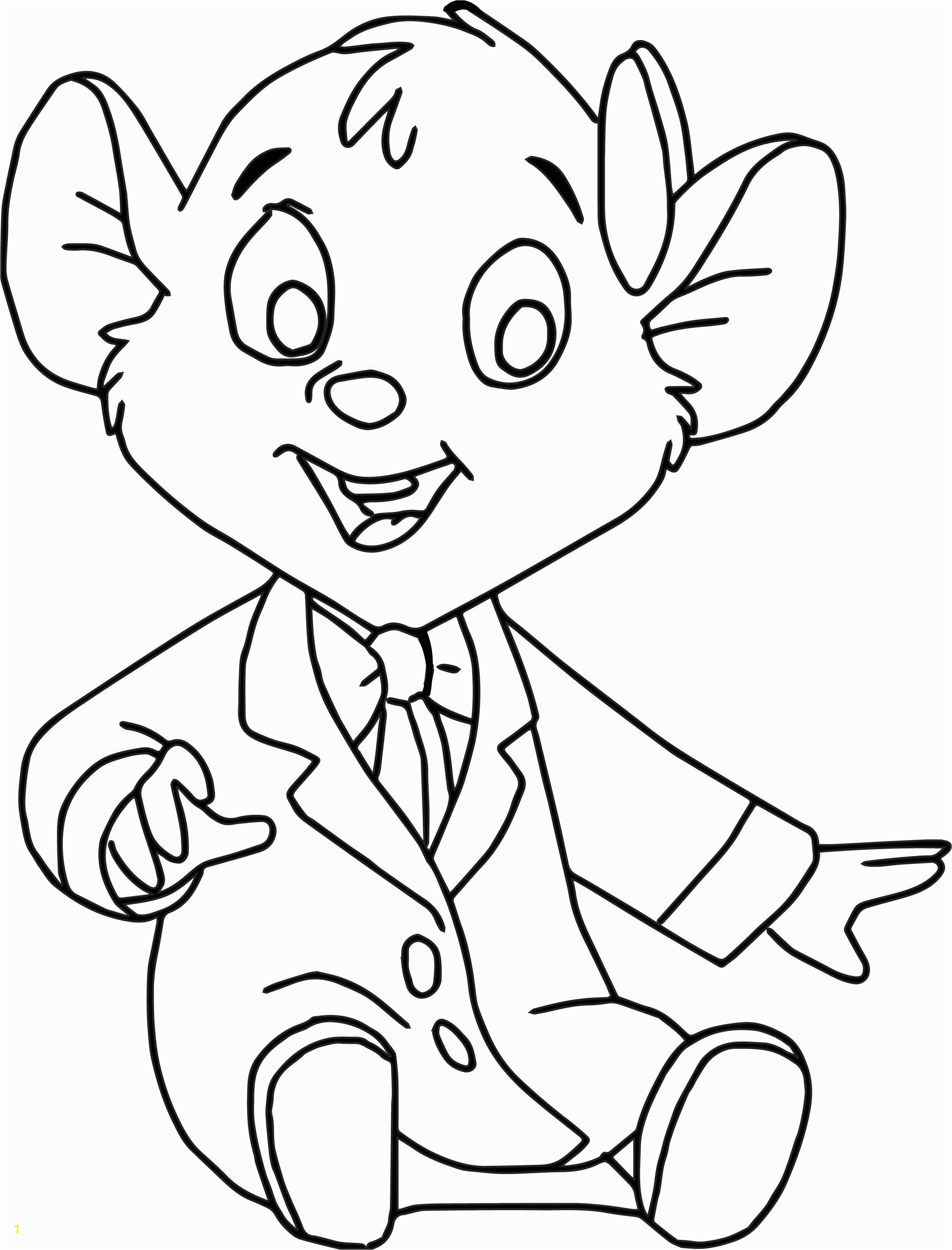 Basil Coloring Page the Great Mouse Detective Oli Cartoon Coloring Pages