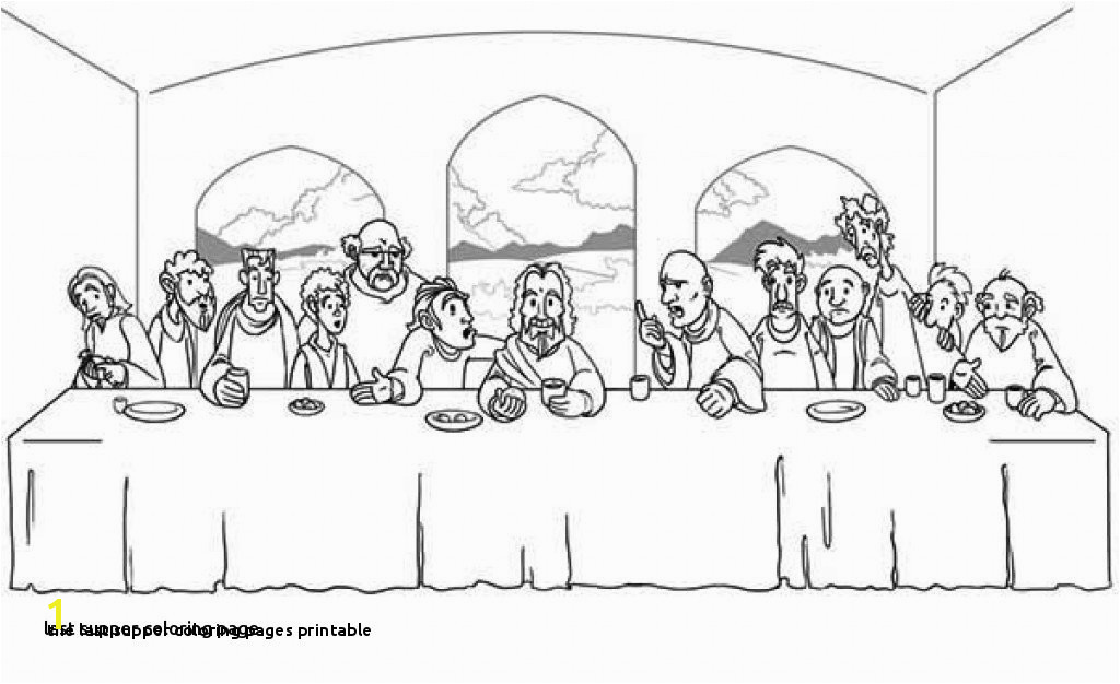 Last Supper Coloring Page Elegant Cartoon Od Jesus Disciples