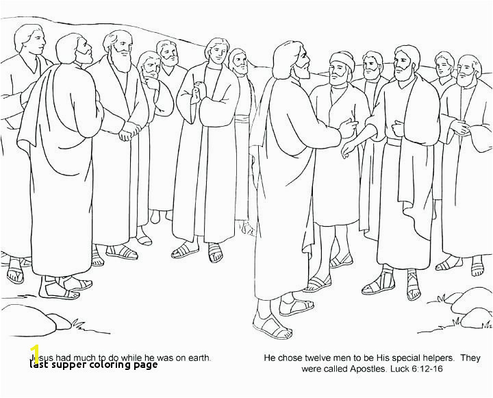 Last Supper Coloring Page Last Supper Coloring Page Unique Cartoon Od Jesus Disciples Coloring