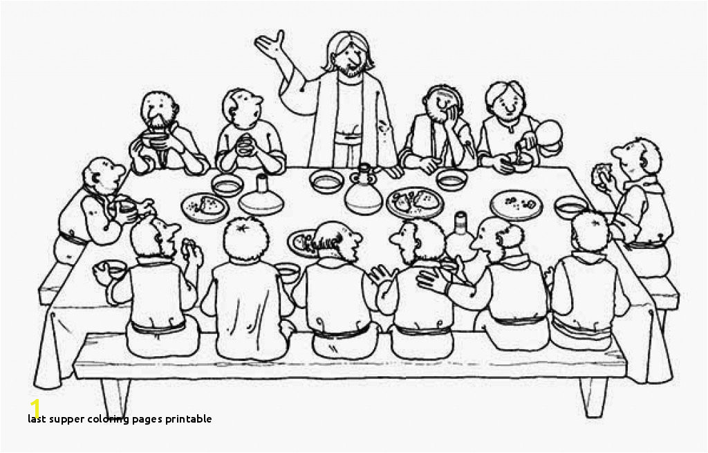 Last Supper Coloring Pages Printable Last Supper Coloring Page Coloring Pages for Children
