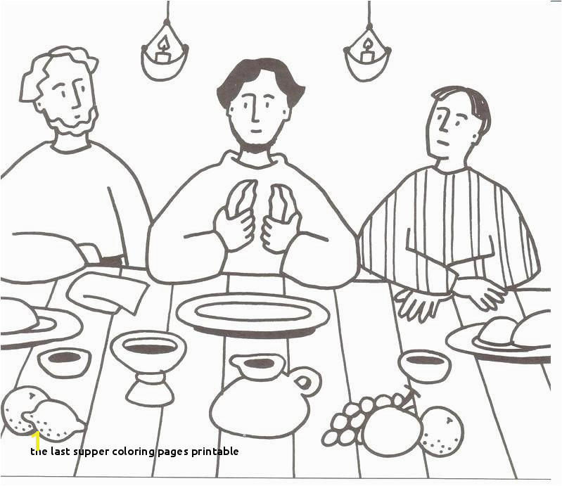 the Last Supper Coloring Pages Printable Last Supper Coloring Page Elegant Cartoon Od Jesus Disciples