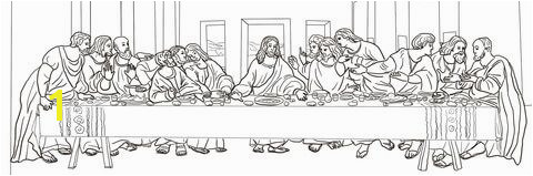 to see printable version of The Last Supper by Leonardo da Vinci Coloring page