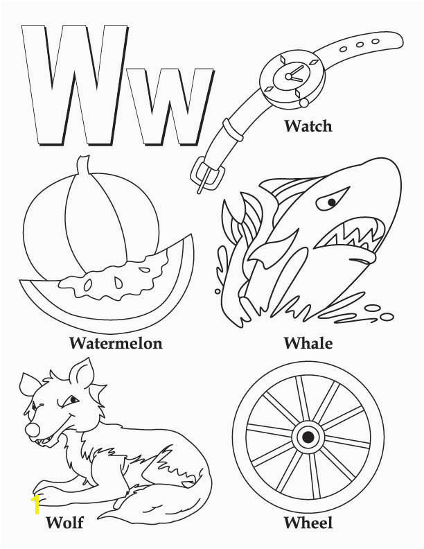 Coloring Activity Pages for Preschoolers My A to Z Coloring Book Letter W Coloring Page