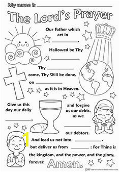 the lord s prayer coloring pages