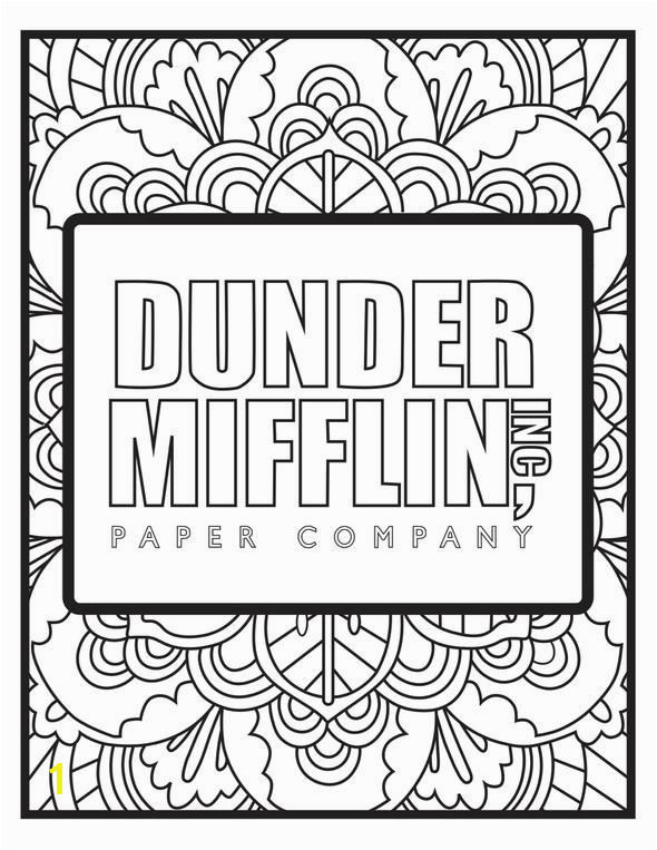 The Office Tv Show Coloring Pages the Fice Coloring Pages 5pck the Fice Colors