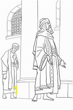 Pharisee and the Publican coloring page from Jesus parables category Select from printable crafts of cartoons nature animals Bible and many more