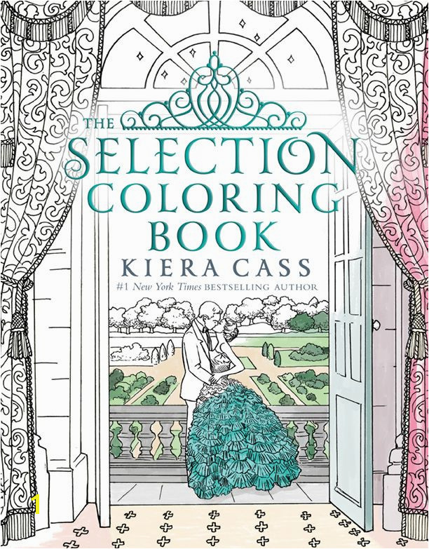The Selection Coloring Book cover reveal via Epic Reads on sale December 27 2016