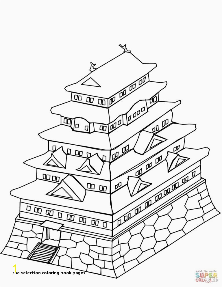 the Selection Coloring Book Pages Simple Coloring Book Pages Elegant Castle Simple Drawing at