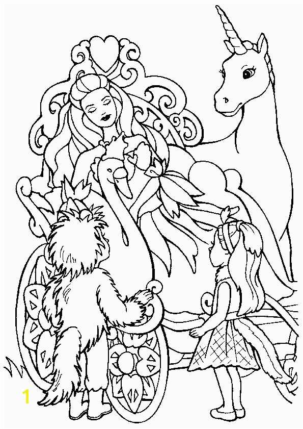 "The Swan Princess Coloring Pages Icolor ""princesses"" Licorne Princesse 595×842"