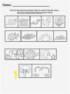 Free Eric Carle s The Very Clumsy Beetle Sequencing Sheet For Educational Purposes ly