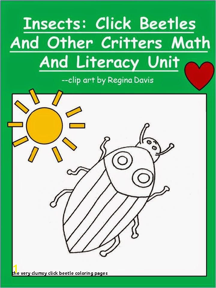 The Very Clumsy Beetle Coloring Pages Free Insects Beetles and Other Critters Math and Literacy