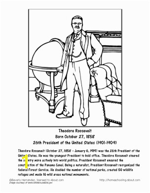 Theodore Roosevelt Coloring Page Learn About theodore Roosevelt with Free Printables