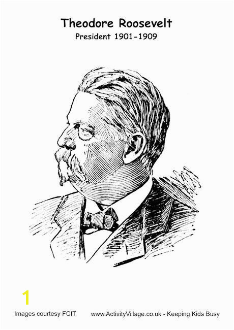 Wk 15 Theodore Roosevelt coloring page