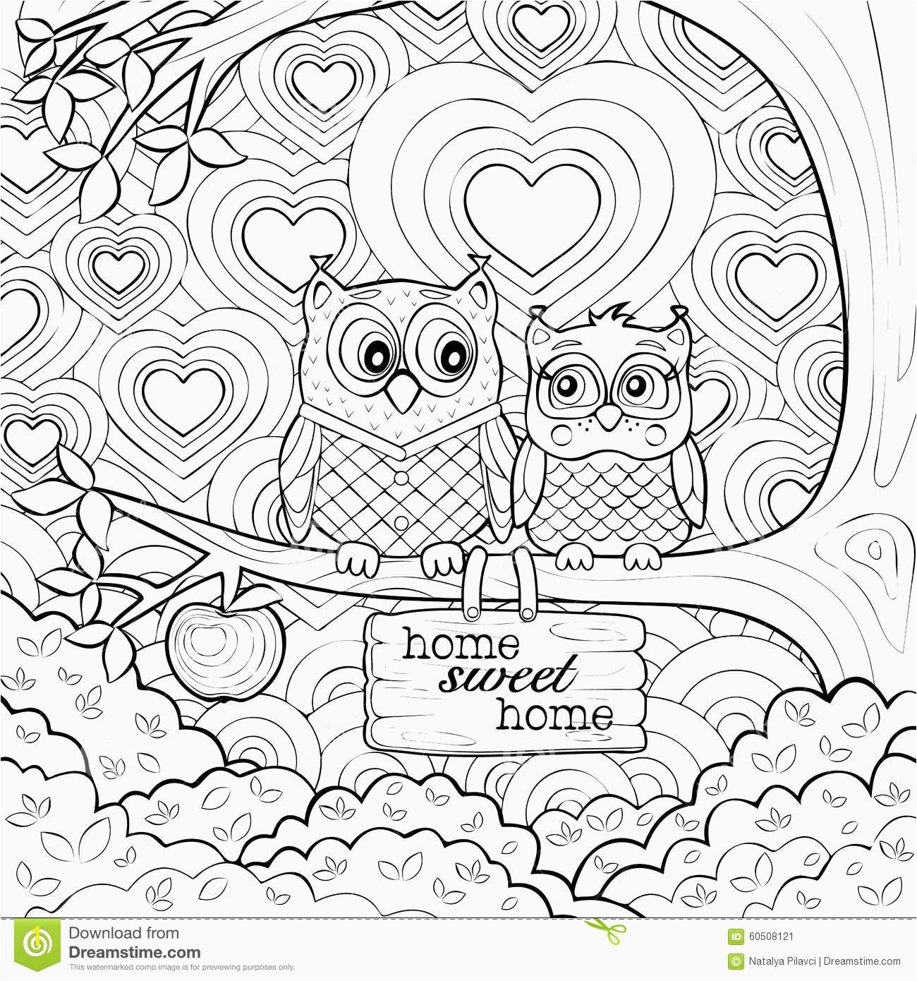 Quotes Coloring Pages Cute Owls Art therapy Coloring Page Stock Vector Illustration Elegant Beautiful Best