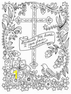 5 Digital Pages of Crosses to Color Instant Download Digi Cross Coloring Page Easter