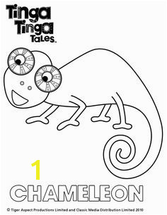 Tinga Tinga Tales Black and white picture of Chameleon