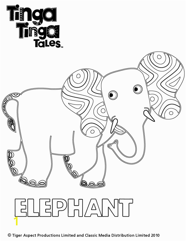 Tinga Tinga Coloring Pages Tinga Tinga Tales Black and White Picture Of Elephant