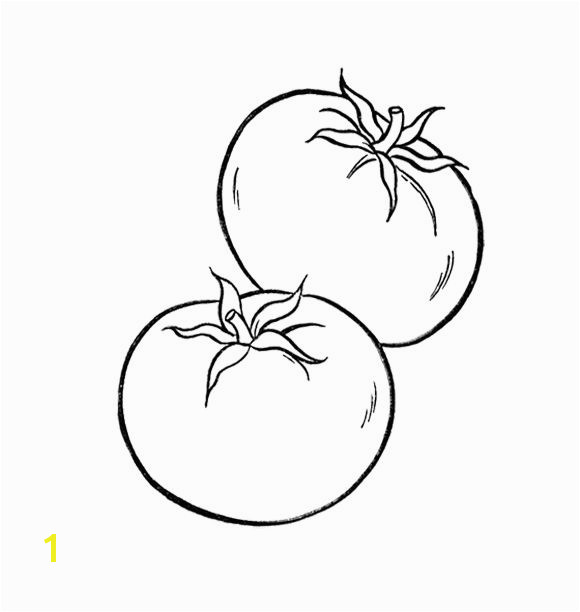 Healthy Tomato Ve ables Coloring Page For Kids