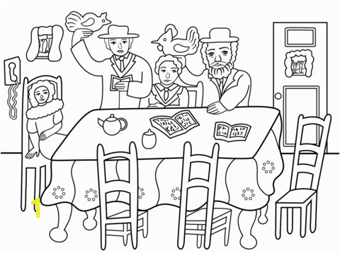 Jewish Holiday Coloring Pages Yom Kippur Kaparot Ceremony Coloring Page