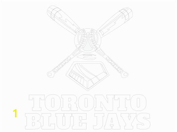 Printable Toronto Blue Jays Coloring Sheet
